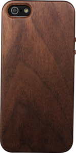Case for Apple iPhone 5/5S, Natural Black Walnut Wood by The Kase Collection