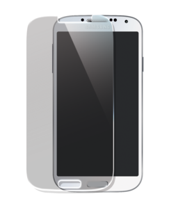 Tempered Glass Screen Protector for Samsung Galaxy S4, Transparent by The Kase Collection