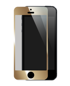 Tempered Glass Screen Protector for Apple iPhone 5/5S/5C, Gold by The Kase Collection