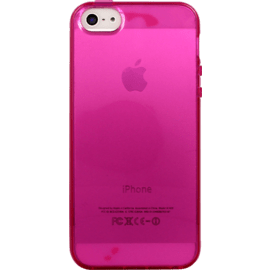 Coque pour Apple iPhone 5/5s/SE, silicone Rose Transparent