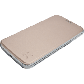 Coque clapet transparent pour Samsung Galaxy S6 Edge, Platine