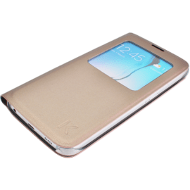 Etui à clapet avec Window View pour Samsung Galaxy S6, Or