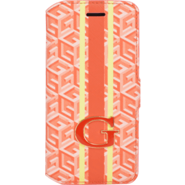 Guess G-Cube Coque clapet pour Apple iPhone 6/6s, Orange