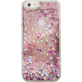Bling Bling Coque Pailletée pour Apple iPhone 6/6s, Pink Lady