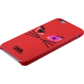 Karl Lagerfeld Choupette in Love 2 Coque pour Apple iPhone 6/6s, Rouge