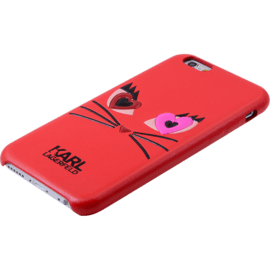 Karl Lagerfeld Choupette in Love 2 Coque pour Apple iPhone 6 Plus/6s Plus, Rouge