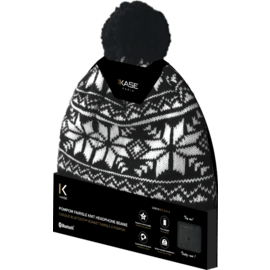 Casque Bluetooth Bonnet fairisle à pompon
