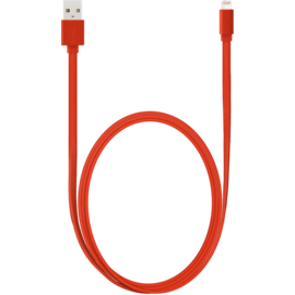 Câble Lightning certifié MFi Apple Charge/Sync (1M), Rouge Ardent