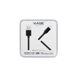 Câble Lightning certifié MFi Apple Charge/Sync (2M), Noir de Jais