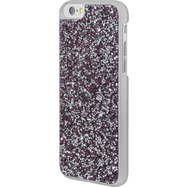 Coque Bling Strass pour Apple iPhone 6/6s, Pink Flambe & Argent