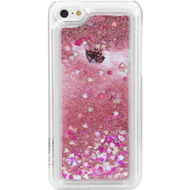 Bling Bling Coque Pailletée pour Apple iPhone 5c, Pink Lady