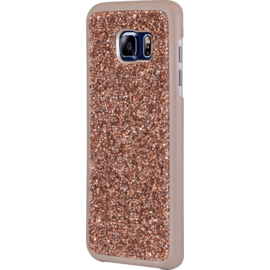 Coque Bling Strass pour Samsung Galaxy S7 Edge, Or Rose