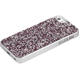 Coque Bling Strass pour Apple iPhone 5/5s/SE, Pink Flambe & Argent