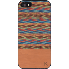 Coque bois pour Apple iPhone 5/5s/SE, Browny Check