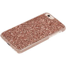 Coque Bling Strass pour Apple iPhone 6/6s, Or Rose