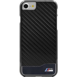 BMW Coque carbone & aluminium pour Apple iPhone 7/8/SE 2020, Noir