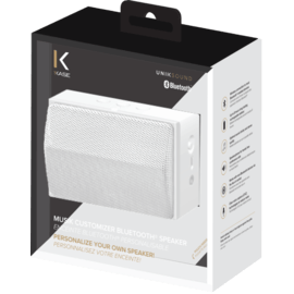 Musik Customizer Enceinte Bluetooth personalisable, Blanc