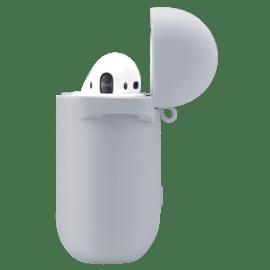 Coque Apple AirPods en gel de silicone doux, Gris sidéral