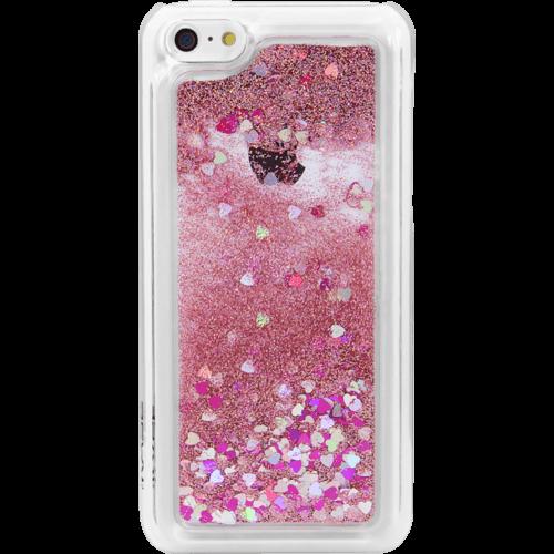 Bling Bling Coque Pailletée pour Apple iPhone 5c, Pink Lady
